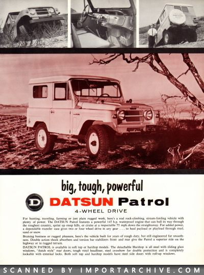 1965 Nissan Brochure Cover