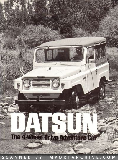 1969 Nissan Brochure Cover