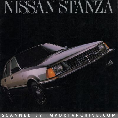 1983 Nissan Brochure Cover