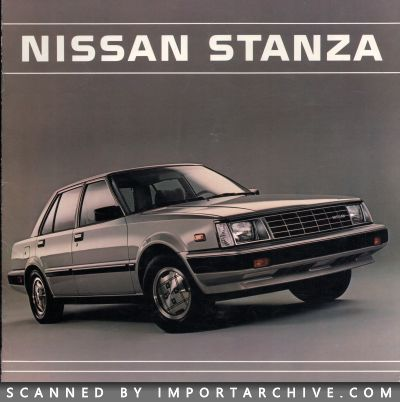 1984 Nissan Brochure Cover