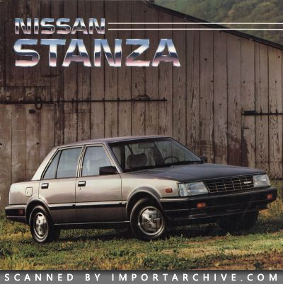 1985 Nissan Brochure Cover