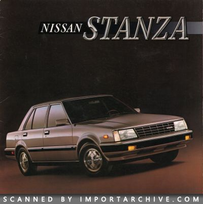 1986 Nissan Brochure Cover