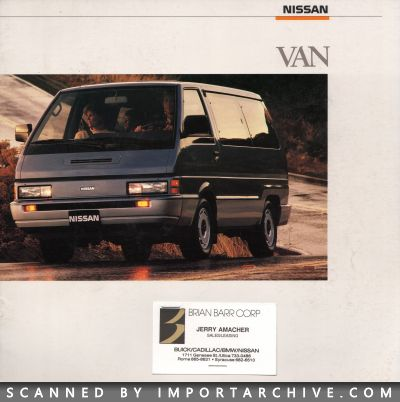 1988 Nissan Brochure Cover