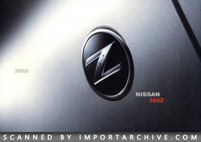 2003 Nissan Brochure Cover