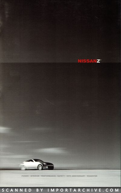 2005 Nissan Brochure Cover