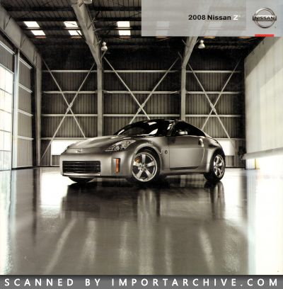 2008 Nissan Brochure Cover
