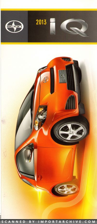 2013 Scion Brochure Cover