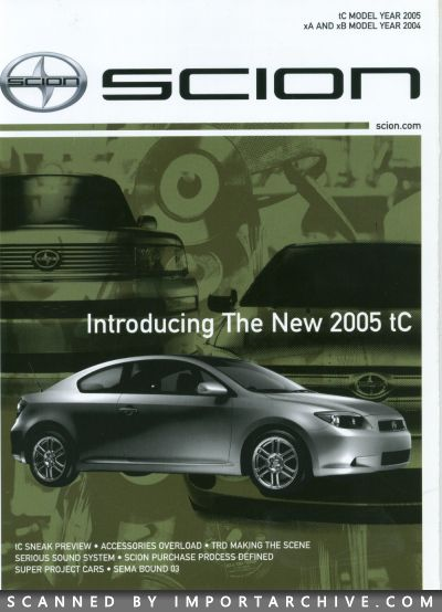 2004 Scion Brochure Cover