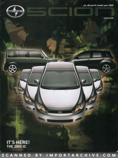 2005 Scion Brochure Cover