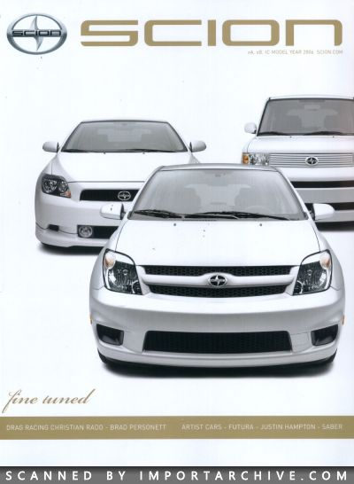 2006 Scion Brochure Cover