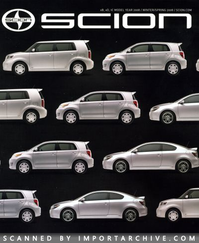 2008 Scion Brochure Cover
