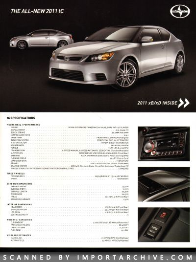 2011 Scion Brochure Cover