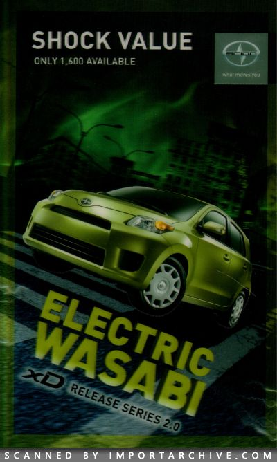 2009 Scion Brochure Cover