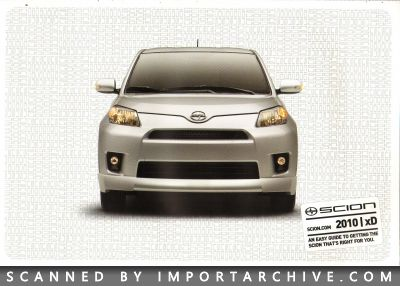 2010 Scion Brochure Cover