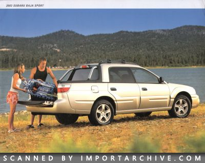2003 Subaru Brochure Cover