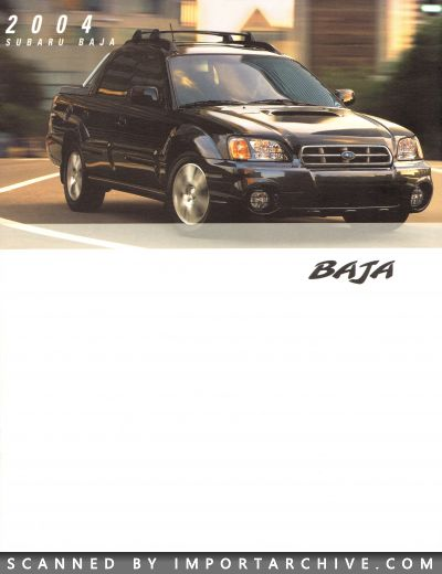 2004 Subaru Brochure Cover