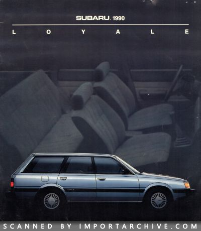 1990 Subaru Brochure Cover