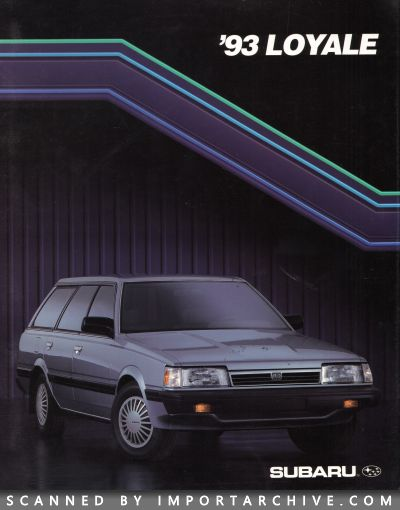 1993 Subaru Brochure Cover