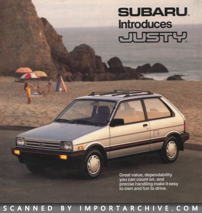 1987 Subaru Brochure Cover