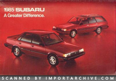 1985 Subaru Brochure Cover