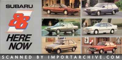 1988 Subaru Brochure Cover