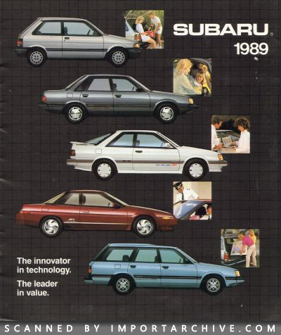 1989 Subaru Brochure Cover