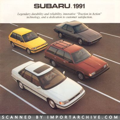 1991 Subaru Brochure Cover