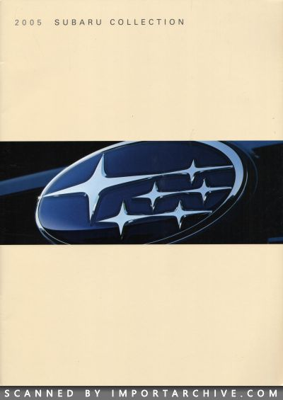 2005 Subaru Brochure Cover