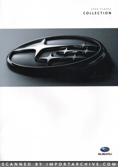 2006 Subaru Brochure Cover