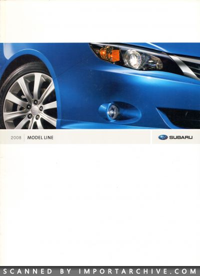 2008 Subaru Brochure Cover