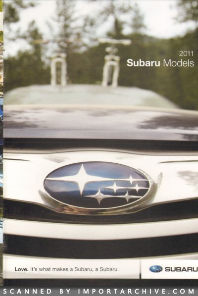 2011 Subaru Brochure Cover