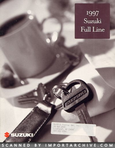 1997 Suzuki Brochure Cover