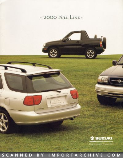 2000 Suzuki Brochure Cover