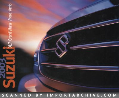 2003 Suzuki Brochure Cover