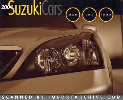 2004 Suzuki Brochure Cover