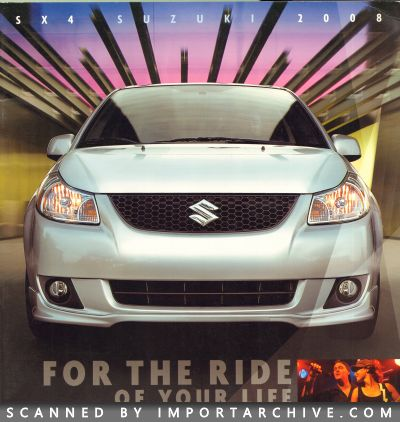2008 Suzuki Brochure Cover