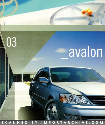 2003 Toyota Brochure Cover