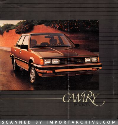 1984 Toyota Brochure Cover