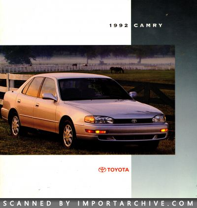 1992 Toyota Brochure Cover