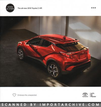 2018 Toyota Brochure Cover