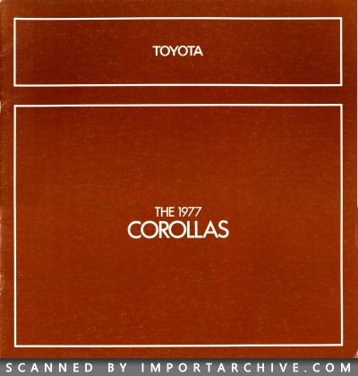 1977 Toyota Brochure Cover
