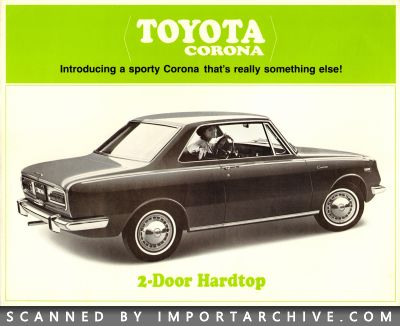 1967 Toyota Brochure Cover