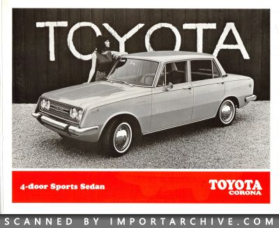 1968 Toyota Brochure Cover