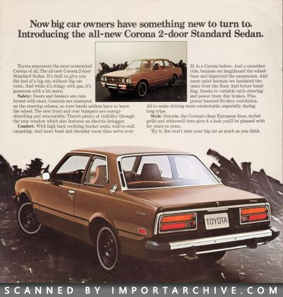 1974 Toyota Brochure Cover