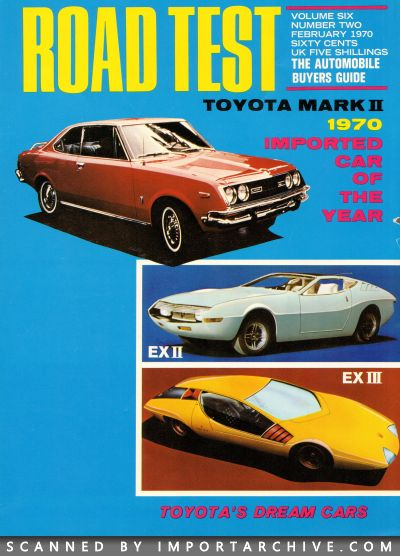 1970 Toyota Brochure Cover