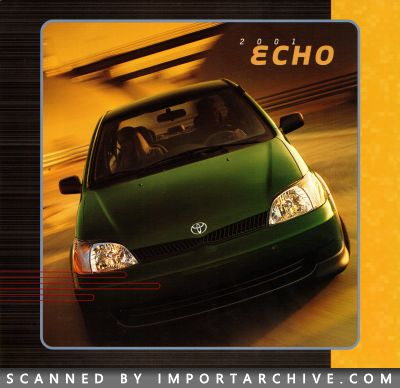2001 Toyota Brochure Cover
