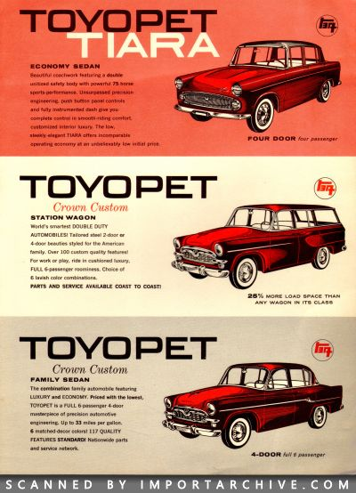 1960 Toyota Brochure Cover