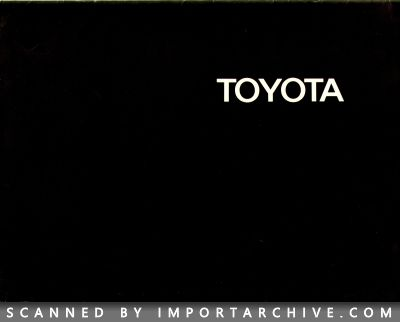 1971 Toyota Brochure Cover