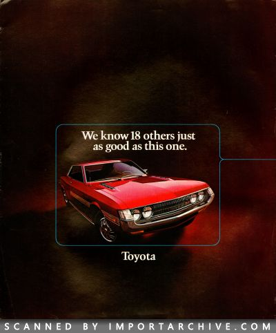 1972 Toyota Brochure Cover