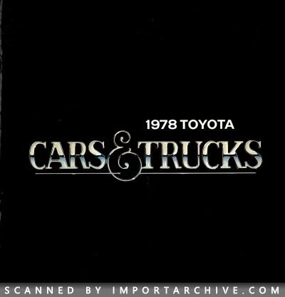 1978 Toyota Brochure Cover